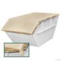 99103Natur web 90x90 - Plandeka kontenerowa z tkaniny jutowej 305g / m²