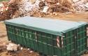 Einfache Rollplane 77100b 126x81 - Prosta plandeka rolkowa dla kontenerów rolkowych